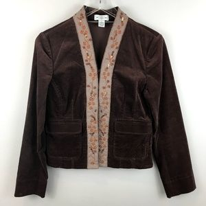 Anthropologie Sitwell Embroidered Velvet Jacket 6